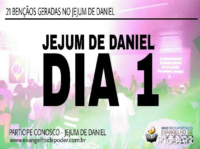 JEJUM DE DANIEL - 1° DIA