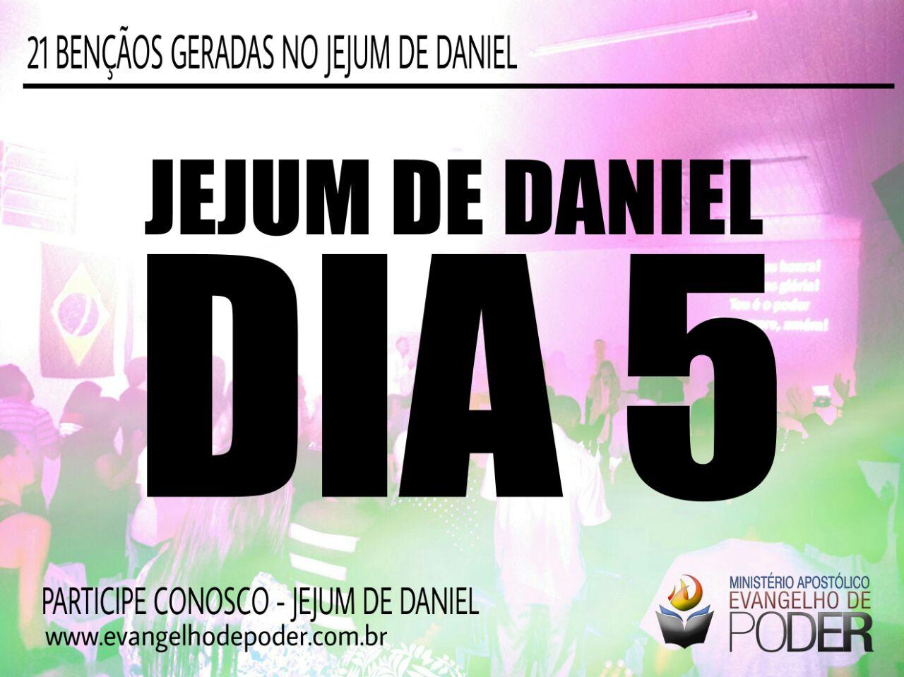 JEJUM DE DANIEL 5° DIA