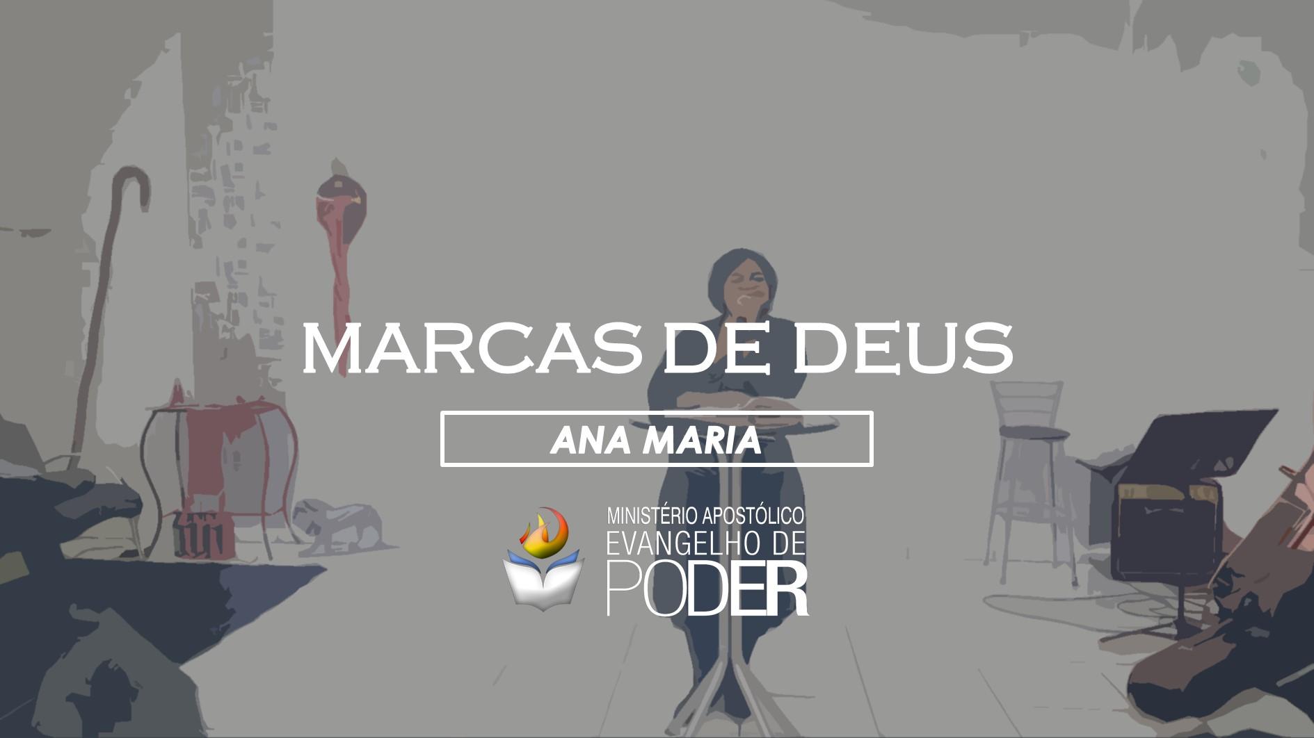 MARCAS DE DEUS - ANA MARIA