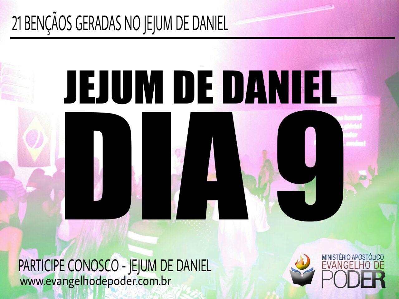 JEJUM DE DANIEL 9° DIA