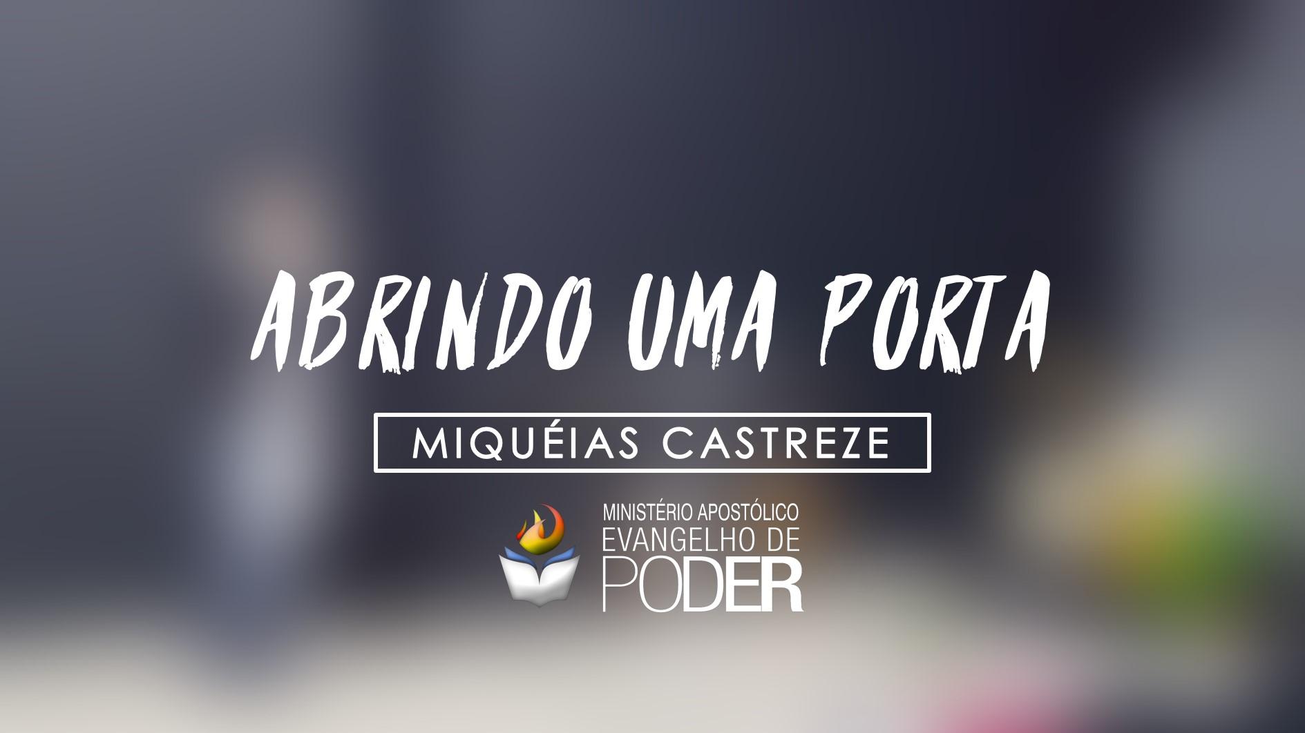 ABRINDO UMA PORTA