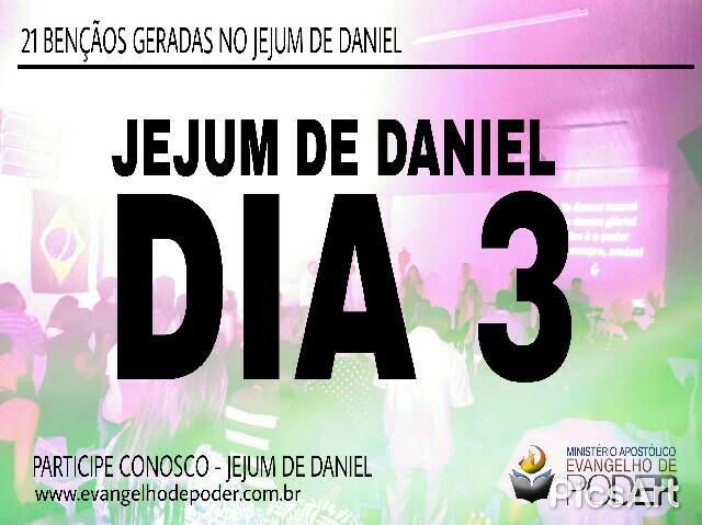 JEJUM DE DANIEL - 3° DIA