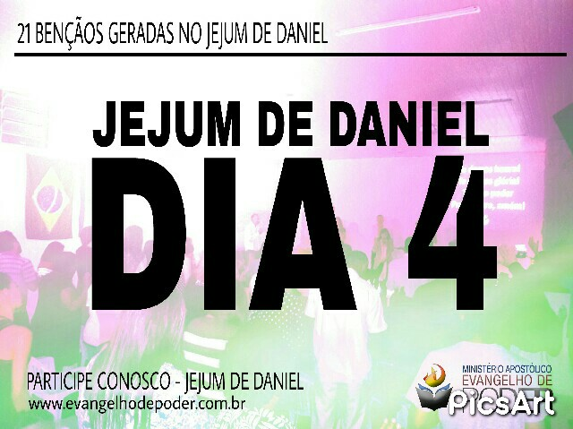 JEJUM DE DANIEL 4° DIA
