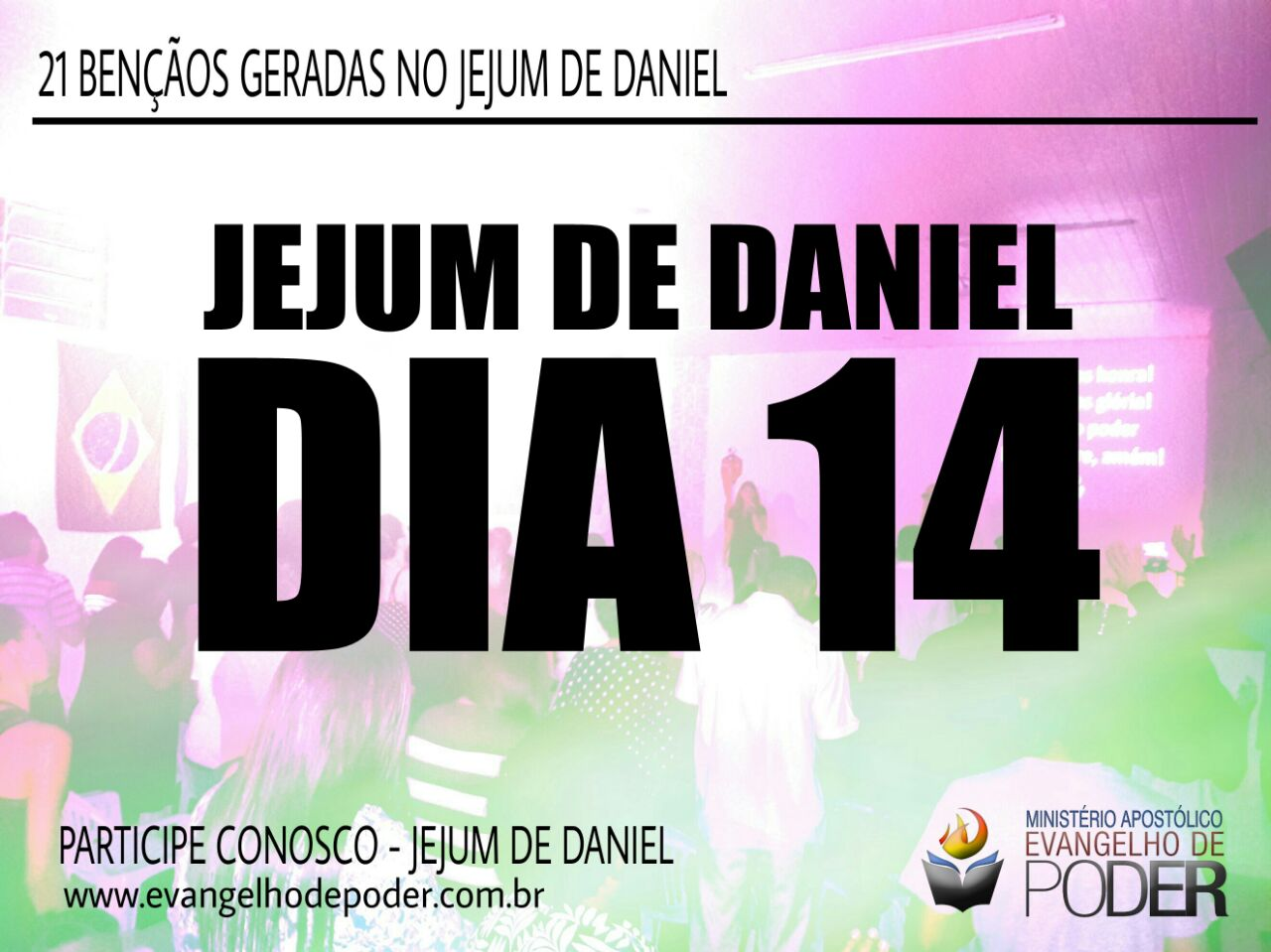 JEJUM DE DANIEL 14° DIA