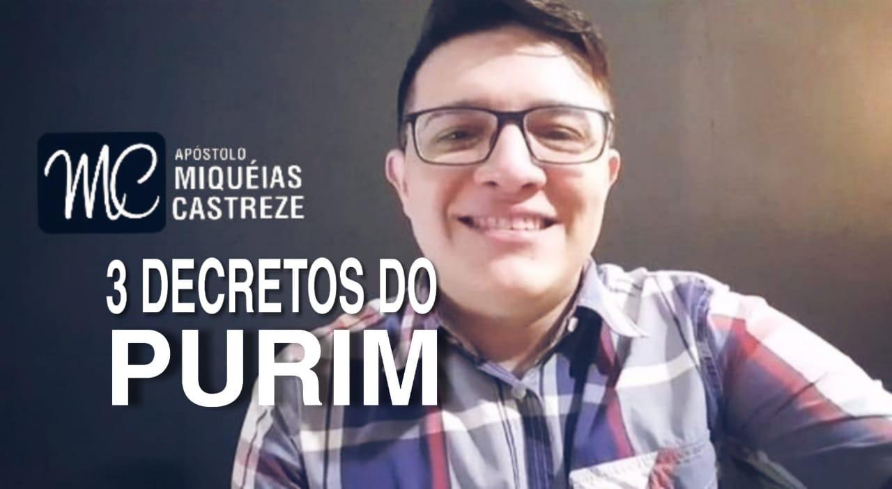 DECRETOS EM PURIM 2019